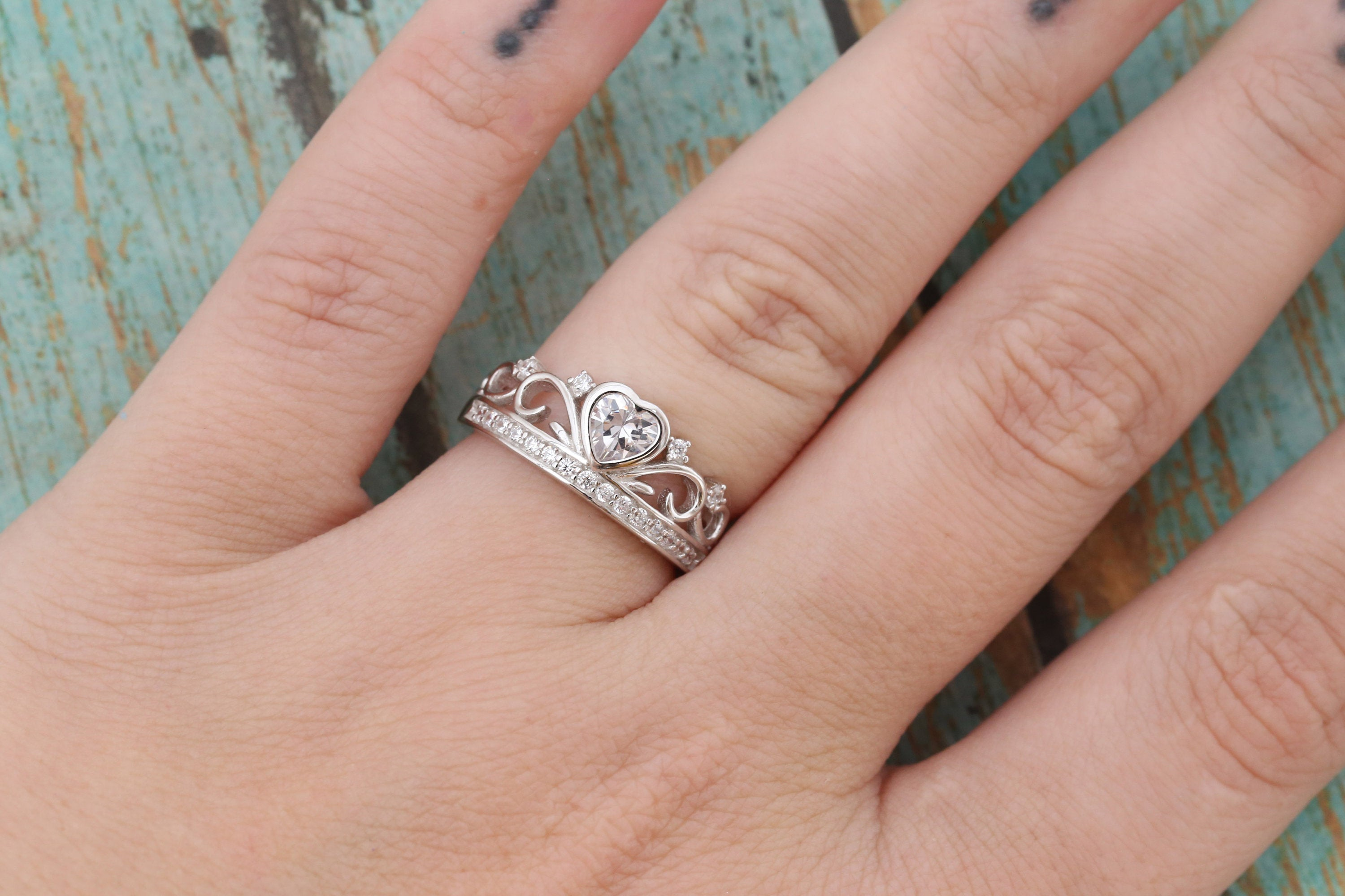 Princess Crown Cremation Ring - Sterling Silver Crown Ring - Cremation Jewelry - Ash Ring - Ash Jewelry - Urn Ring - Pet Loss - LifeStone