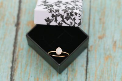 14k Rose Gold Cremation Ring - Thin Gold Stacking Ring - Cremation Jewelry - Ash Ring - Ash Jewelry - Urn Ring - Pet Loss - Cremation Ring