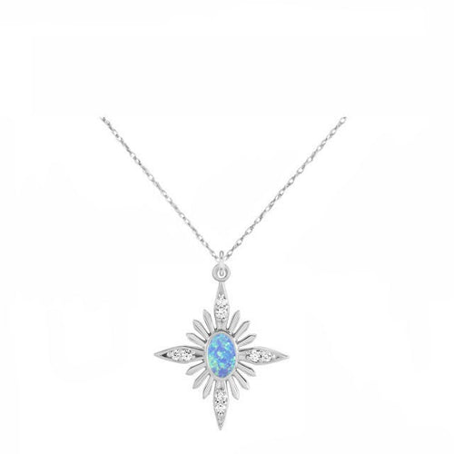 14k White Gold Celestial Cremation Pendant - Diamond Starburst Necklace - Cremation Jewelry - Ash Jewelry - Urn Necklace - Pet Loss