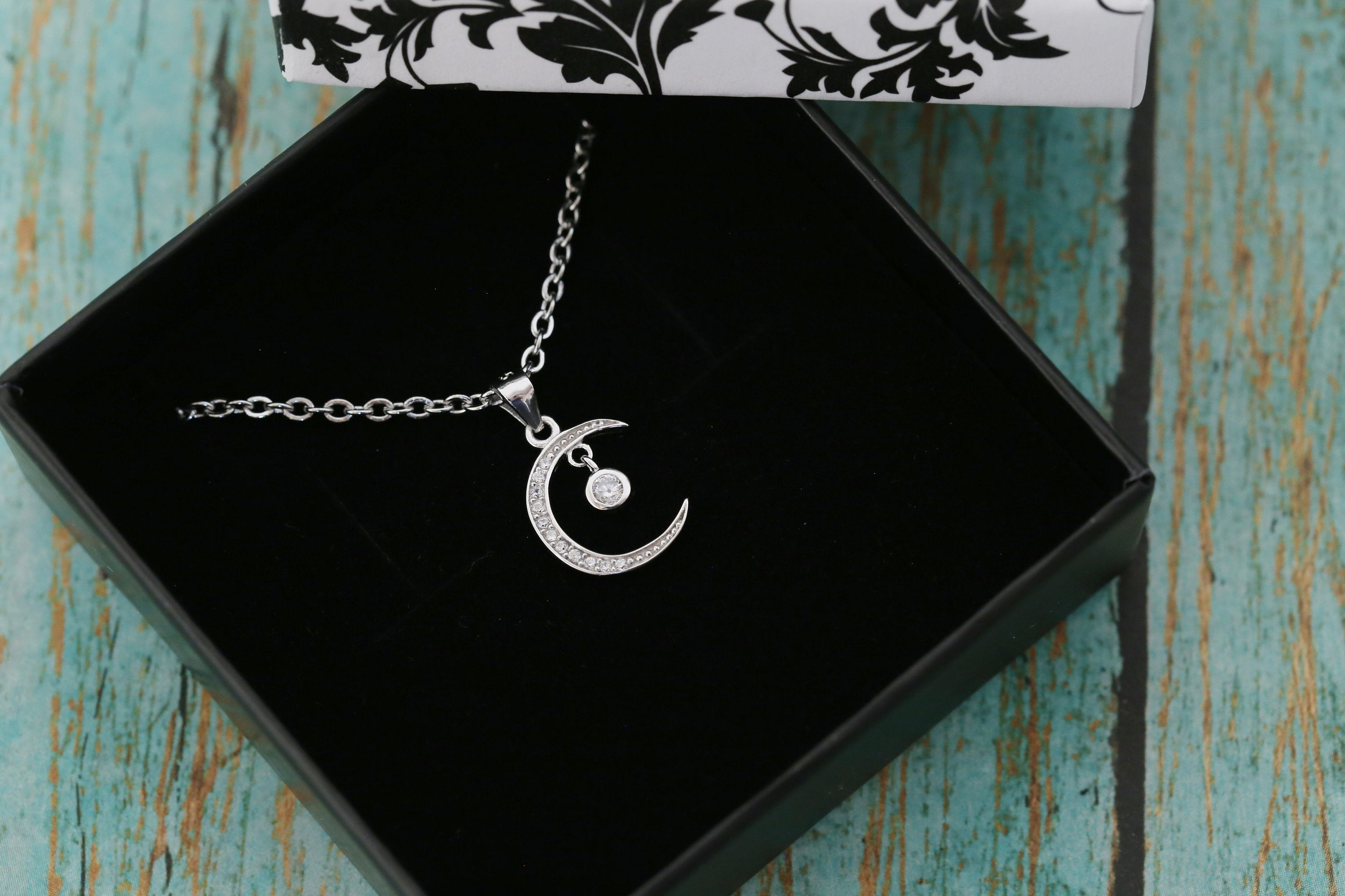 Cremation Ash Pendant - Small Sterling Silver Moon - Cremation Jewelry - Ash Necklace - Ash Jewelry - Urn - Urn Jewelry - Pet Loss