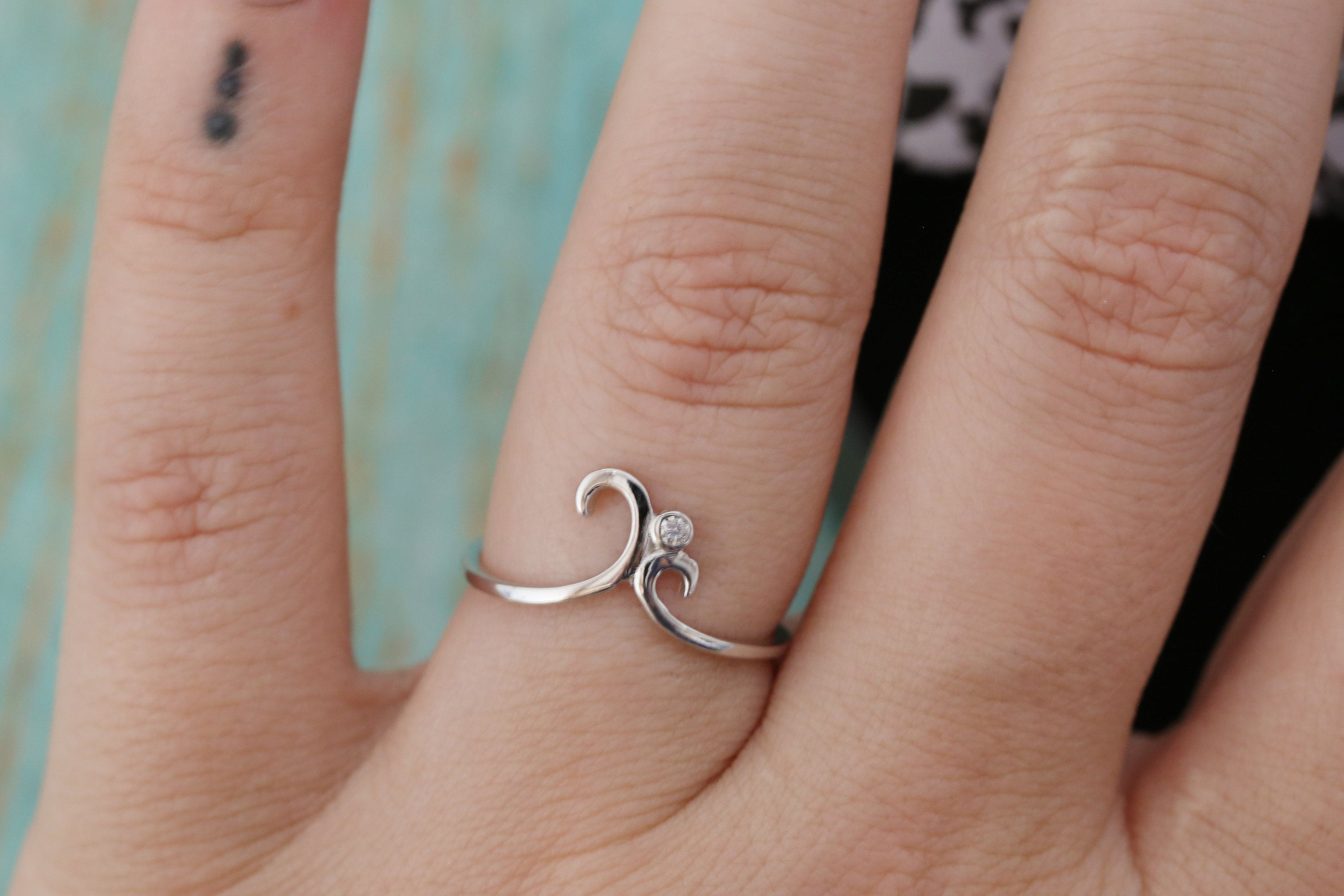 Cremation Ring - Sterling Silver Dainty Swirl Ring - Cremation Jewelry - Ash Ring - Ash Jewelry - Urn Ring - Minimalist Ring - Pet Loss