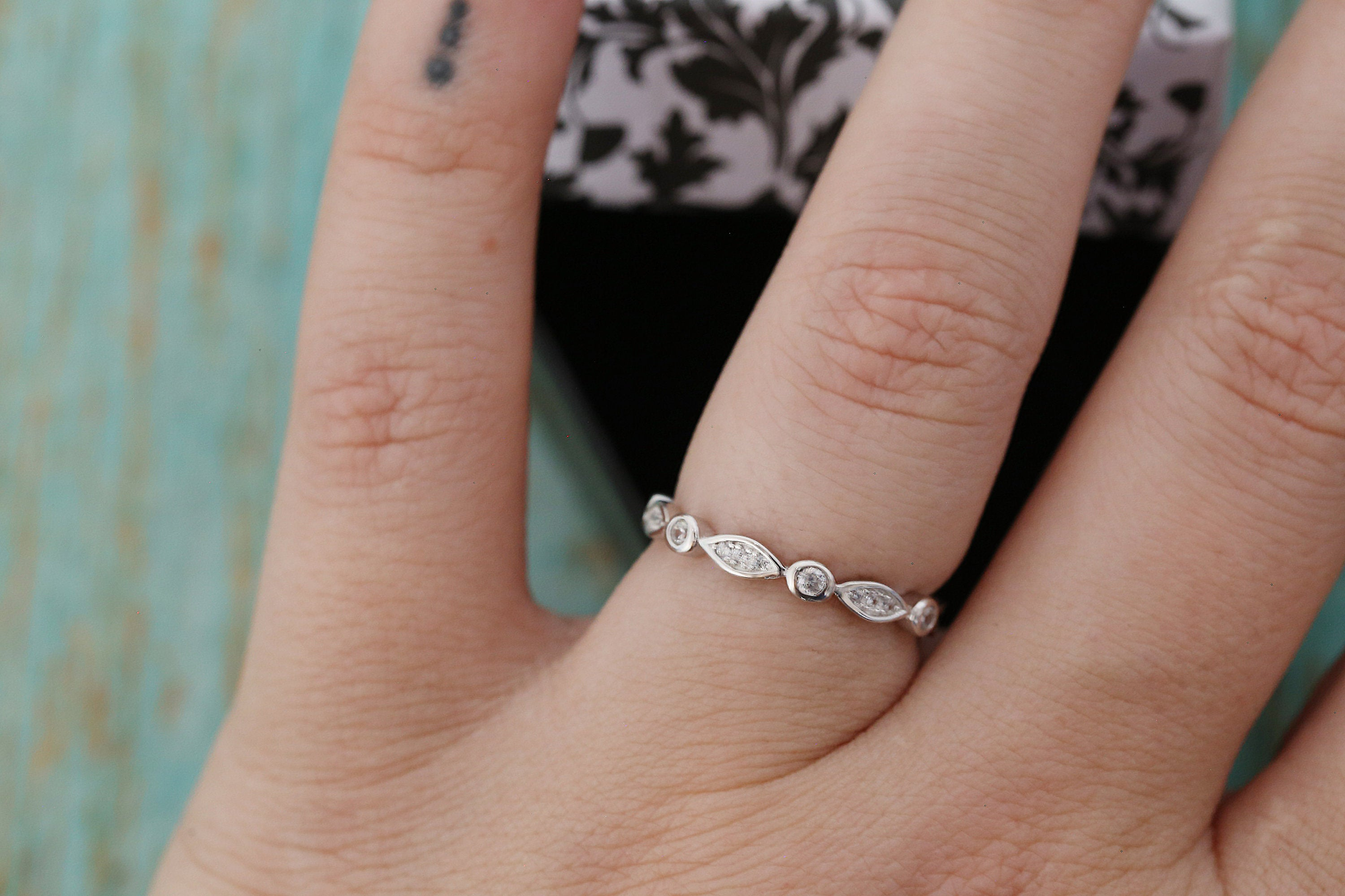 Cremation Ring - Sterling Silver Half Marquise Eternity Band Ring - Cremation Jewelry - Ash Ring - Ash Jewelry - Urn Ring - Pet Loss
