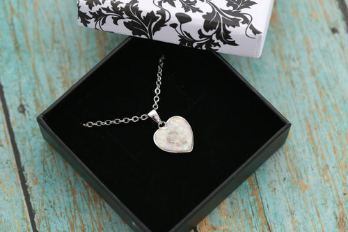 Cremation Heart Pendant - Sterling Silver Memorial Pendant for Ashes - Cremation Jewelry - Urn Necklace - Pet Memorial - Ash Necklace