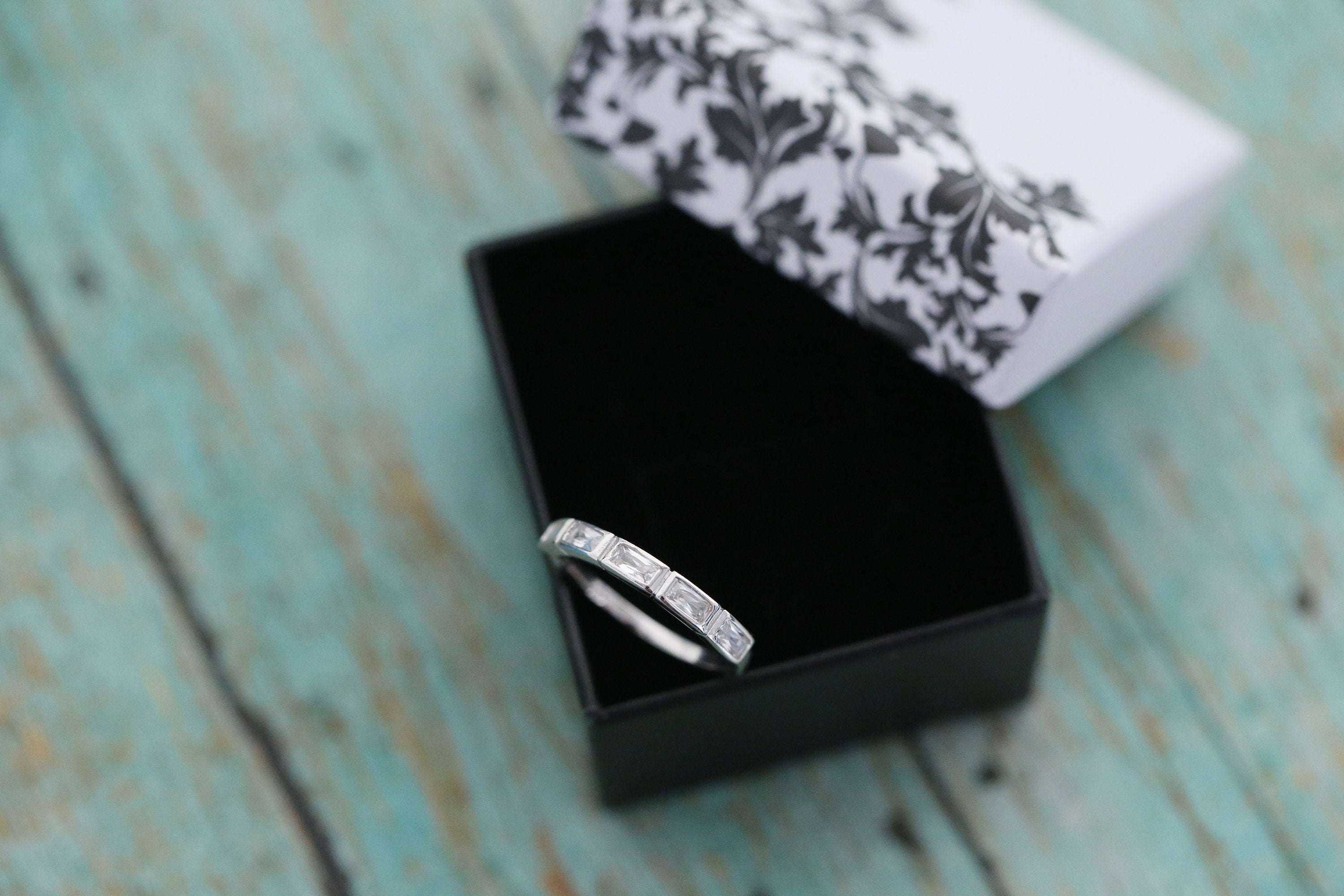 Cremation Ring - Sterling Silver Baguette Eternity Band Ring - Cremation Jewelry - Ash Ring - Ash Jewelry - Urn Ring - Urn Jewelry