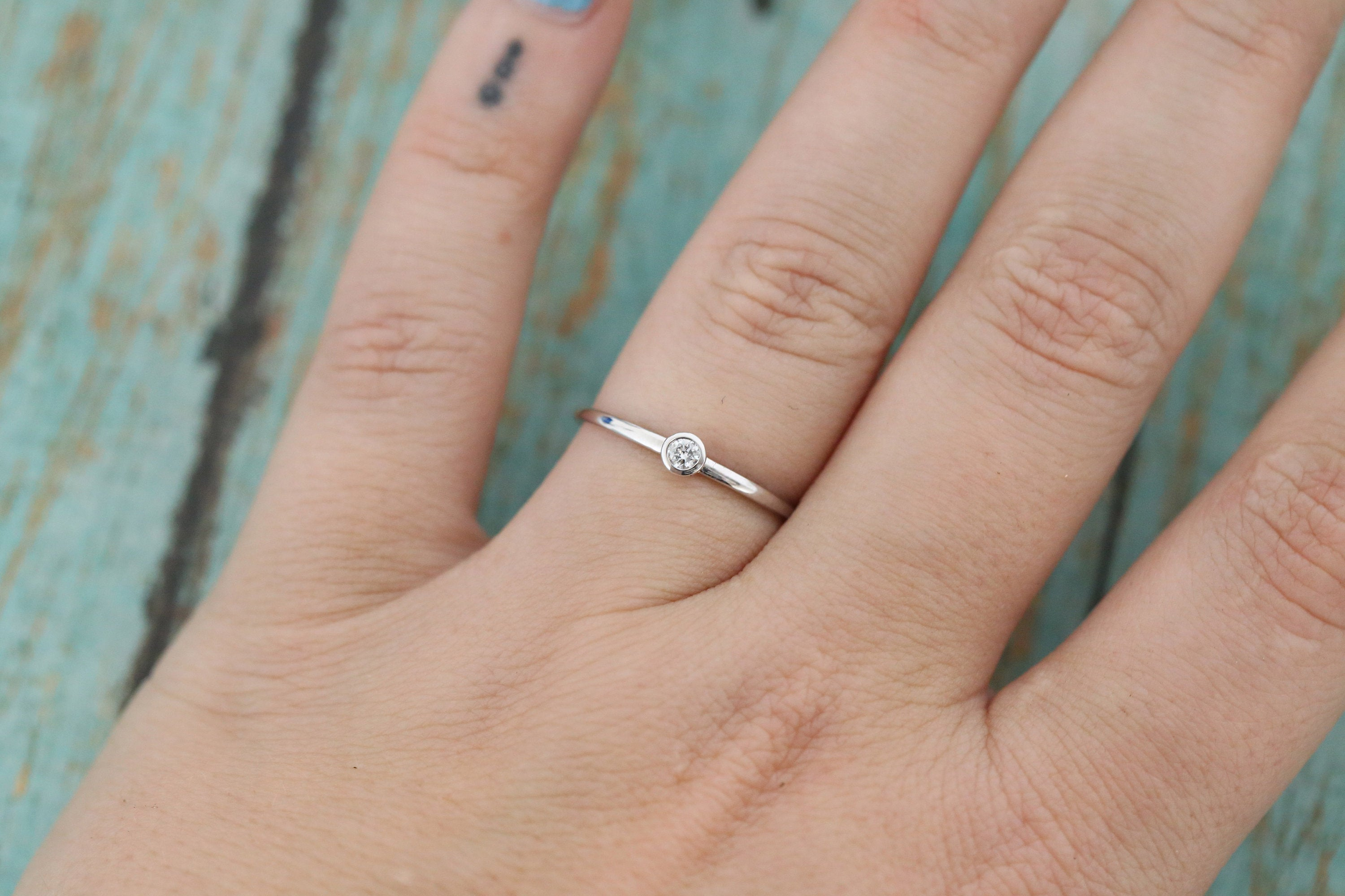 14k White Gold and Diamond Cremation Ring - Diamond Stacking Ring - Cremation Jewelry - Ash Ring - Ash Jewelry - Pet Loss - Cremation Ring