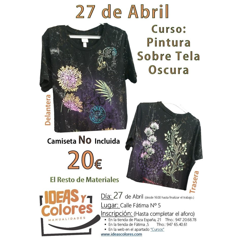 Ideas y Colores - Curso Camiseta Negra 27 Abril