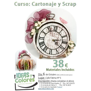 Ideas y Colores - Curso Cartonaje y Scrap 6 Oct