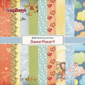 "Block papeles ""Sweetheart "" 6""x6"""