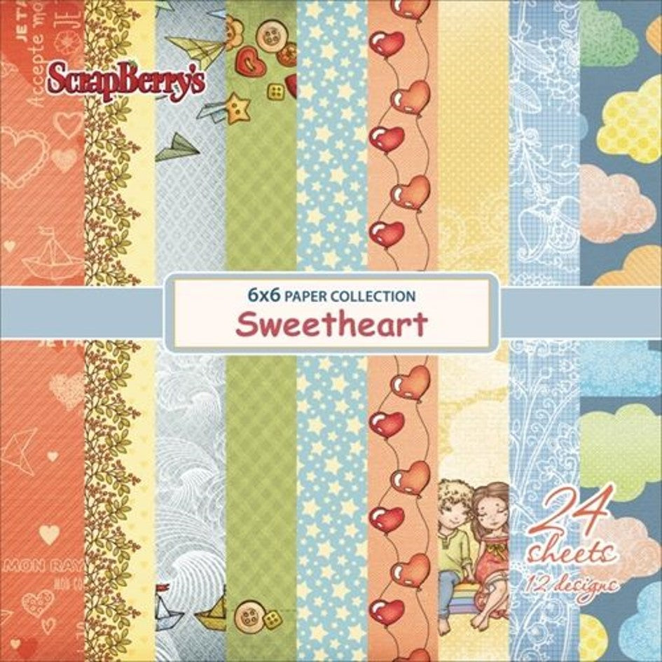"Ideas y Colores - Block papeles ""Sweetheart "" 6""x6"""
