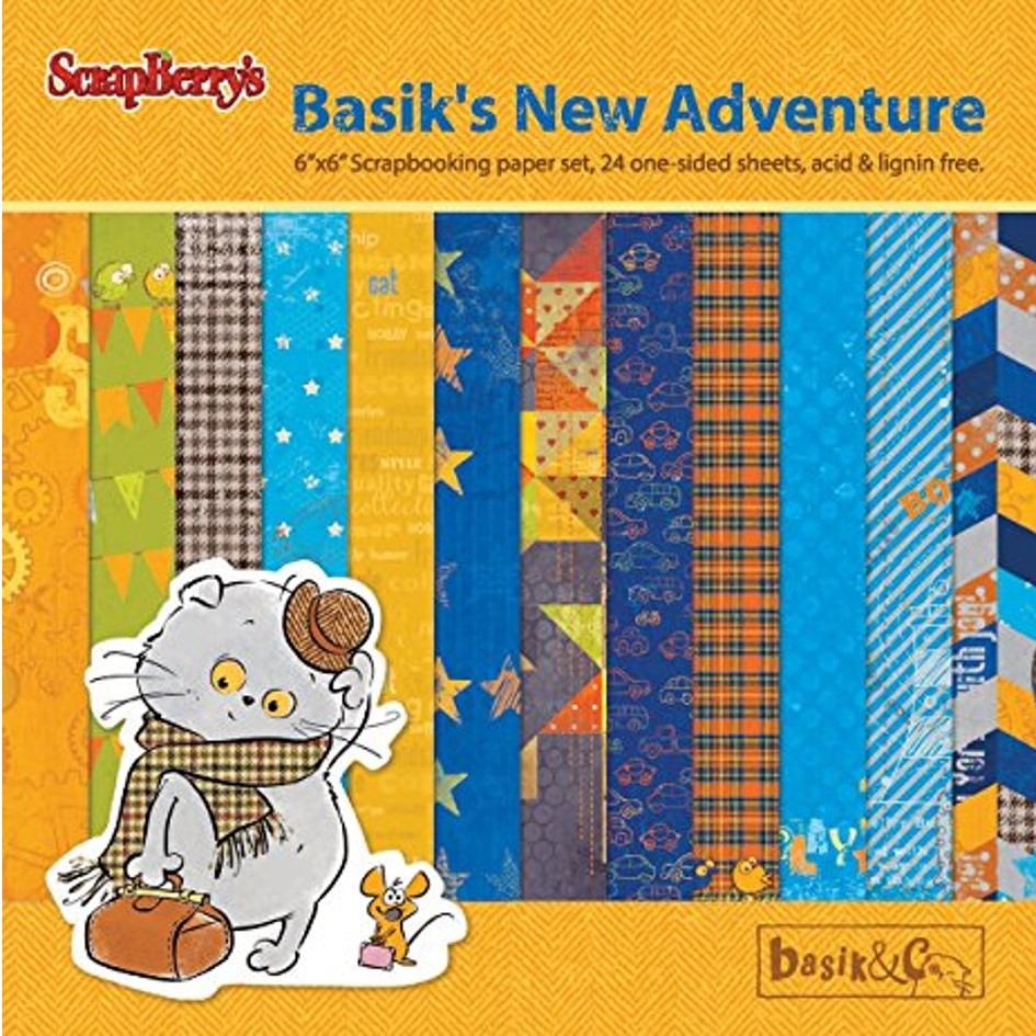 "Ideas y Colores - Block Papeles ""Basik's New Adventure"" 6""x6"""