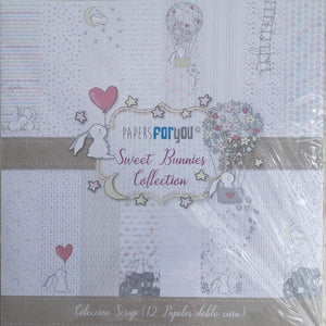 "Ideas y Colores - Blocks 12 Papeles ""Papers ForYou"" 12""x12"" Sweet Bunnies"