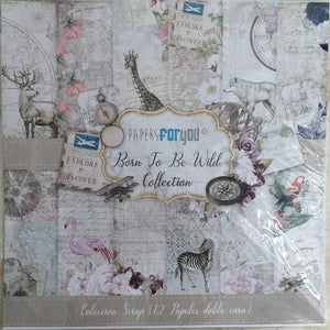 "Ideas y Colores - Blocks 12 Papeles ""Papers ForYou"" 12""x12"" Born to be wild collection"