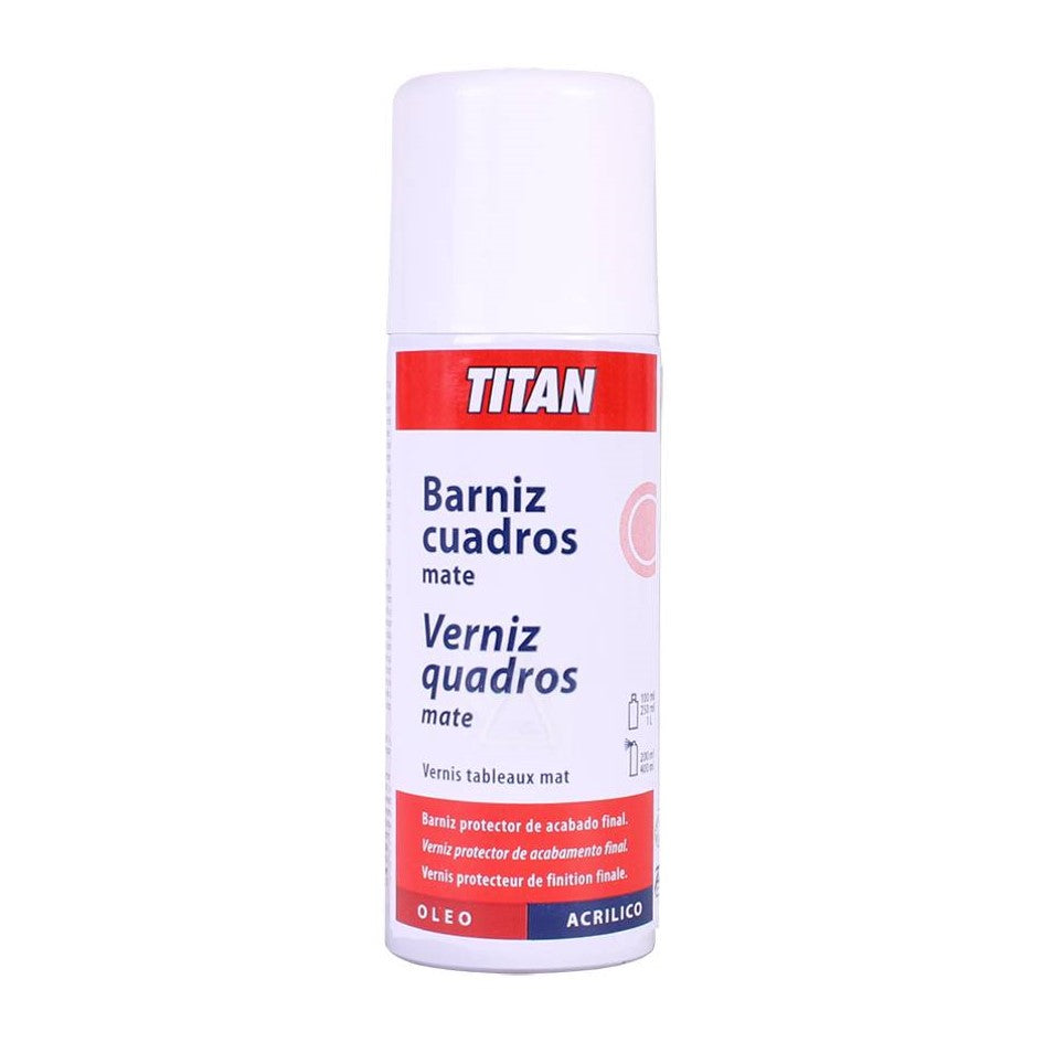 "Ideas y Colores - Barniz para Cuadros en Spray ""Titan"" Mate"