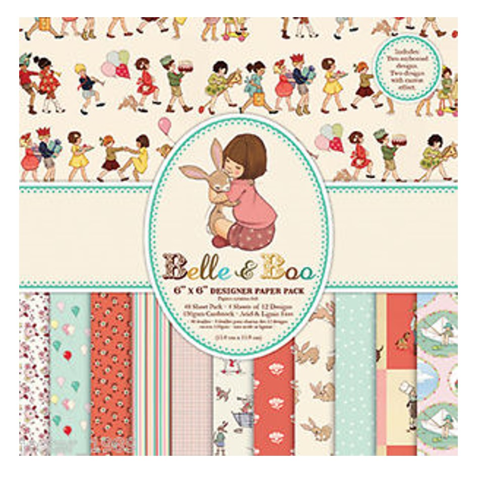 "Ideas y Colores - Block Papeles ""Belle & Boo"" 6""x6"""