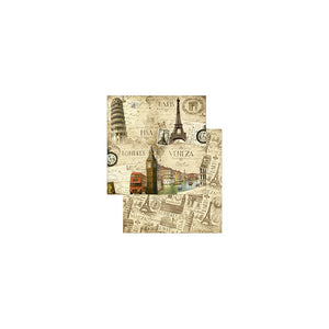 "Ideas y Colores - Block Papel Scrap ""Vintage Cities"""