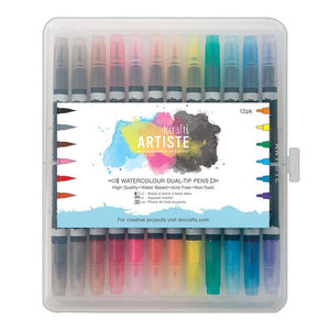 "Ideas y Colores - Set de 12 Rotuladores Acuarelables ""Docrafts Artiste"""