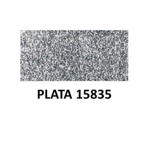 Ideas y Colores - Pastas Relieve Textil Glitter Plata