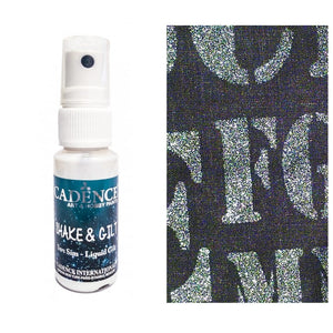 Ideas y Colores - Pintura Glitter Textil Spray Perla