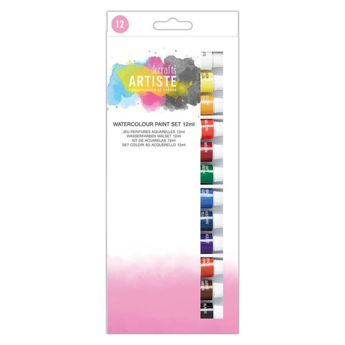 "Ideas y Colores - Set 12 Pinturas Acuarela ""Docrafts"""
