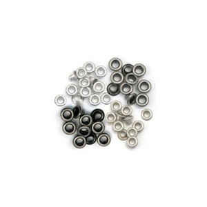 Ideas y Colores - Sets Ojales Standard (Eyelets) Metal Frio 41584-8