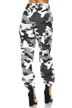 Lost In It Cargo Pants - Grey/Black Camo