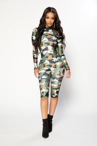 Commando Jumpsuit - Camo