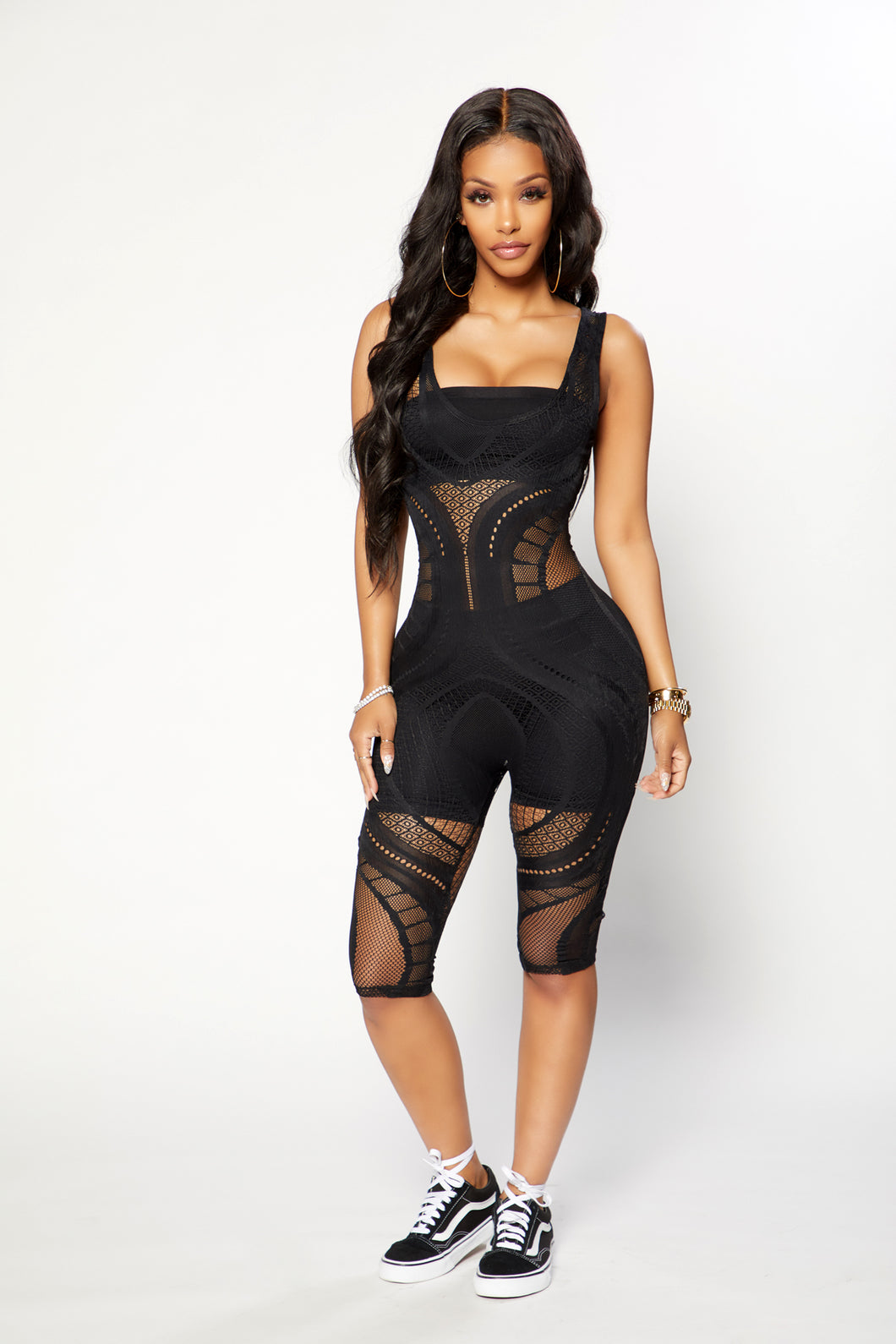 Just An Illusion Jumpsuit - Black