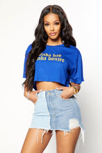Too Bad, Too Boujee Crop Top - Blue