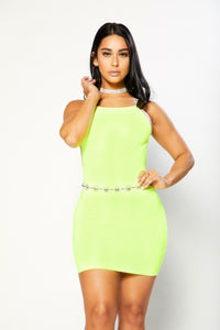 Sasha Dress - Neon Lime