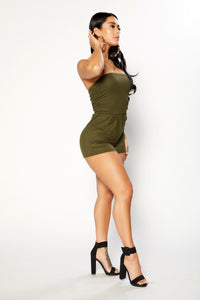 Bailey Romper - Olive