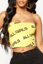 Girl Gang Tube Top - Yellow