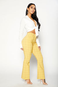 Plaid You Pants - Yellow