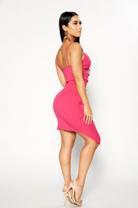 Pretty In Pink Dress - Fuchsia