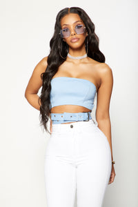 Wrapped Around My Finger Bandeau - Blue