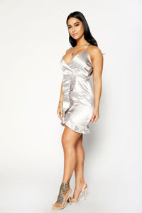 Sweet Life Dress - Silver