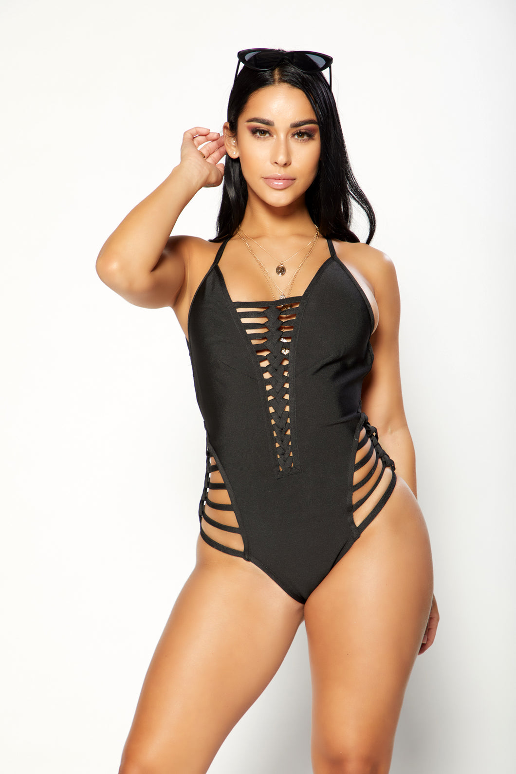 Can't Be Caged Bodysuit - Black