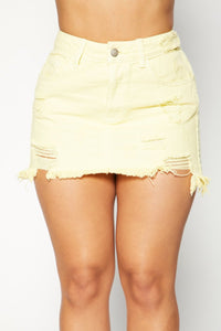 KeKe Denim Skirt - Yellow