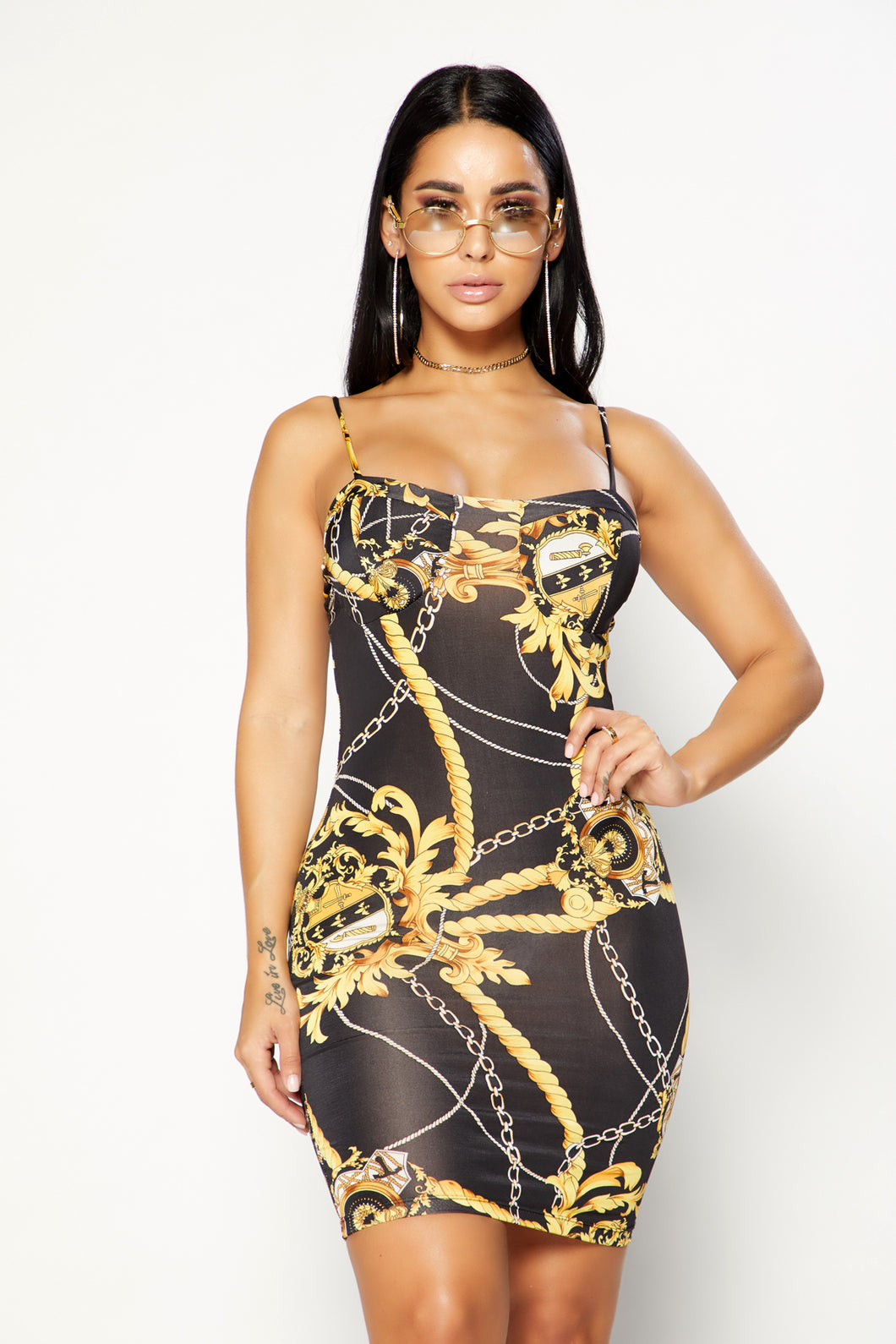 Chainmail Dress - Black/Gold