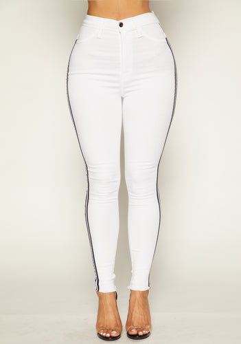 In Line Jeans - White