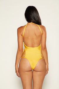 Can't Be Caged Swimsuit - Yellow