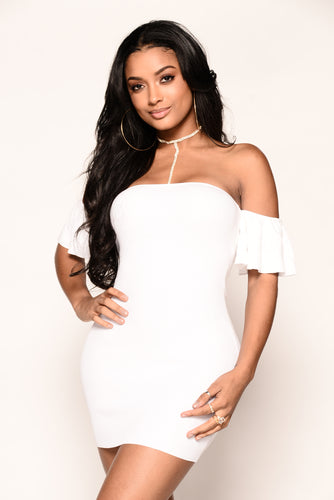 Celia Dress - White