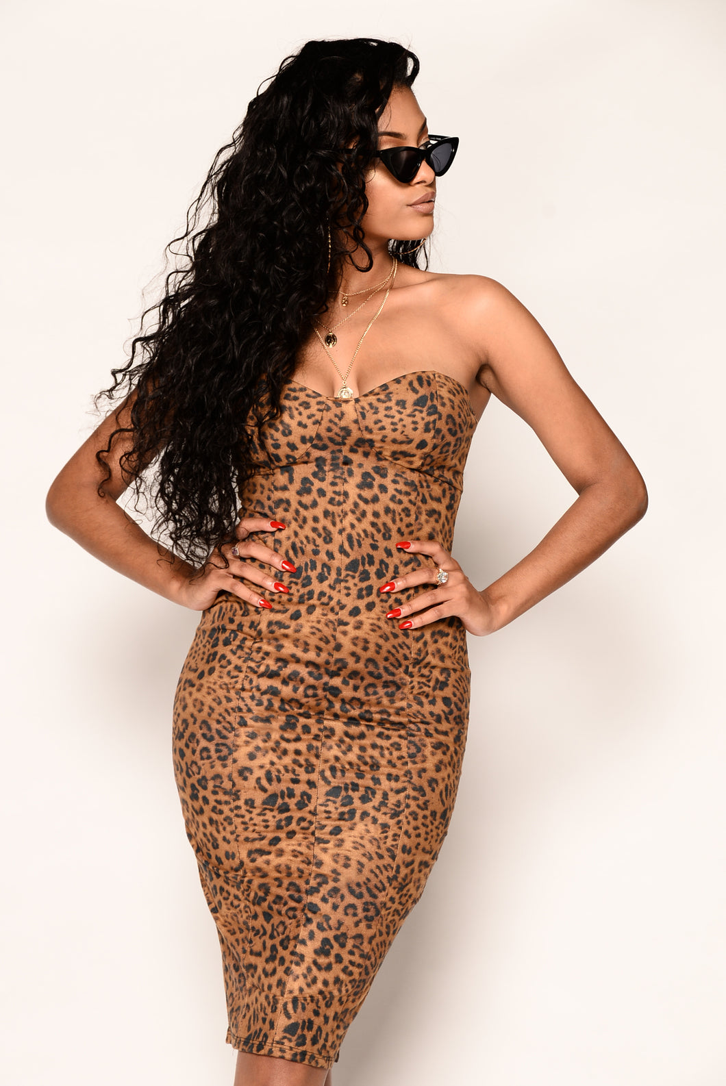 Nikki Dress - Leopard
