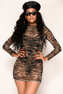 Obeying Orders Dress - Camo