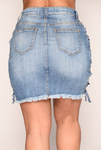 Kandice Denim Skirt - Medium Blue