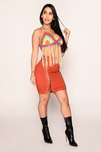 Chella Bound Crochet Top - Rainbow