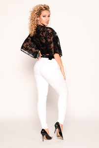 Night Rose Top - Black