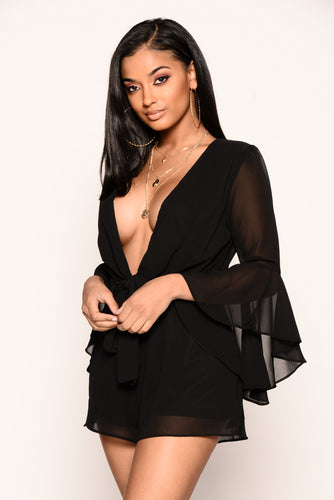 Shay Romper - Black