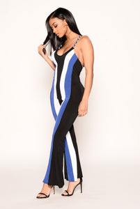 Deena Jumpsuit - Black Multi