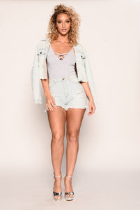 Doing Me Bodysuit - Heather Grey