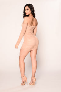 Glow Up Dress - Nude